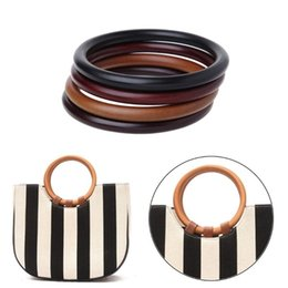 $enCountryForm.capitalKeyWord UK - THINKTHENDO Round Wooden Handle for Handmade Handbag DIY Tote Purse Frame Making Bag Hanger