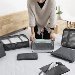 $enCountryForm.capitalKeyWord Canada - Travel Underwear baggage Storage Bag set portable Folding Travel Organizer bags Shoes Pouch Suitcase colorful types mesh sack QQA208 50pcs