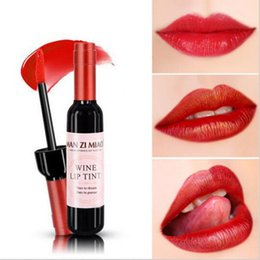 $enCountryForm.capitalKeyWord Australia - New Arrival Wine Red Korean Style Lip Tint Baby Pink Lip For Women Makeup Liquid Lipstick Lip gloss red lips Cosmetic