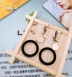 Discount korean 14k gold - New products on the Korean version of the exaggerated letter rectangular female earrings nightclub catwalk tide female t