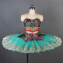 $enCountryForm.capitalKeyWord Australia - adult two pieces Green professional Ballet Tutu Glissade tutu classical performance tutus women Le Corsaire balle stage costume