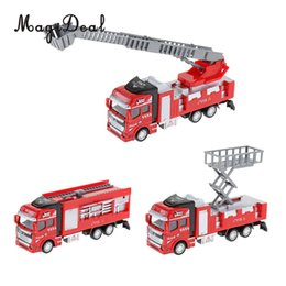 1:48 Scale Children Toy Alloy Pull-back Vehicle Simulation Fire Truck Model Toy Sprinkler Ladder Rescue Truck For Kids Baby Gift Good Reputation Over The World Toys & Hobbies