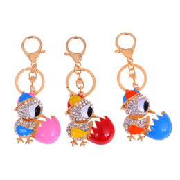 Cute keyChains for bags online shopping - Cute Owl Crystal Key Chains Rings Holder For Women Flower Purse Bag Buckle Pendant For Car Keyrings KeyChains K288