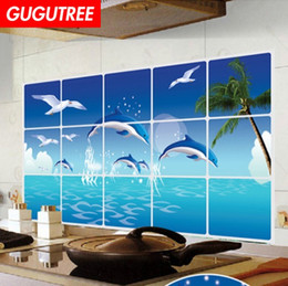 kitchen oil proof wall sticker NZ - Decorate home 3D kitchen oil proof cartoon art wall sticker decoration Decals mural painting Removable Decor Wallpaper G-2568