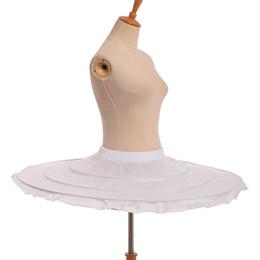 $enCountryForm.capitalKeyWord Australia - New Women Ballet Skirt Crinoline Hoop Bustle Skirt Pannier White Tutu Skirt Petticoat Fast Shipment High Quality