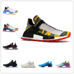 ed384a2c6 Human Race NMD Running Shoes With Box Pharrell Williams Core Hu trail Oreo  Nobel Black Yellow Nerd Designer Sneakers Men Women Sport Shoes