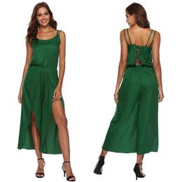 7d6fe8a985 Elegant Sexy Jumpsuits Women Sleeveless Casual Party Irregular Overalls  Jumpsuit Loose Trousers Wide Leg Pants Rompers Holiday