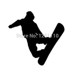 Figure Personalized Australia - HotMeiNi Wholesale 20pcs lot Great Figure Skating Snowboard Snow Board Sports 8 Colors Vinyl Decal Sticker For Car Truck Stickers