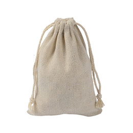 078376c53 10x14cm joyería de lino cordón bolsa de caramelo del favor del saco de  algodón de regalo bolsa de embalaje saco
