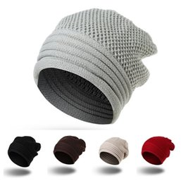 China High Quality Womens Mens Knit Baggy Acrylic Rib Beanie Cable Knitted Hat For Adults Winter Hip Hop Head Ear Warmer Slouchy Sports Snow Cap suppliers