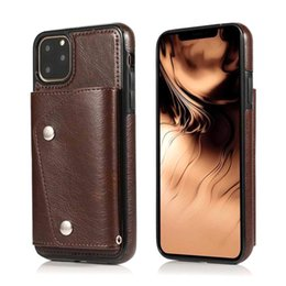 Types walleTs online shopping - For iPhone mobile phone case leather card bag wallet hidden buckle type protection For iPhone Pro Max