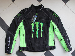 motorcycle jackets kawasaki NZ - 2019 Kawasaki -MONSTER claw cross-country motorcycle racing suit Breathable Downhill Coats With detachable cotton bladder High quality