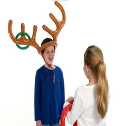 merry christmas balloons NZ - Xmas Inflate Balloon Headband Funny Toys Kids Moose Antlers Cute Deer Head Shape Merry Christmas Decor WY501Q