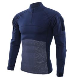 $enCountryForm.capitalKeyWord NZ - Hiking Gear Army Green T-Shirt Men Combat Tactical T Shirt Force Multicam Long Sleeve Outdoor T Shirt Royal Blue S-5XL