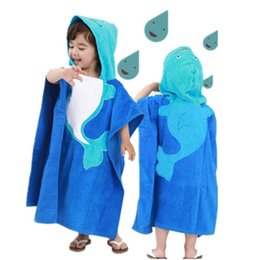 cotton towelling children bathrobe girl NZ - Cartoon cotton children bath towel cape boys and girls baby can wear bath towel beach towel children bathrobe swimsuit
