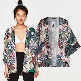 $enCountryForm.capitalKeyWord Australia - Womens Jacket Fashion Casual Women Floral Chiffon Kimono Oversized With Fringe Shawls Wraps Plus Size casacas para mujer 2019 -
