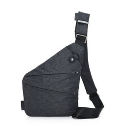 animal hides UK - Anti-theft Men's messenger bag For Male hidden Shoulder chest Pack retro crossbody bag backbags cool motorcycle sling Gym #705837