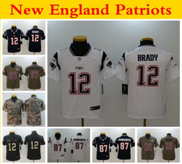 Jerseys service online shopping - Youth New England Patriots nfl Kids Brady Tom Brady Rob Gronkowski Football Jerseys Salute to Service Stitched Shirts