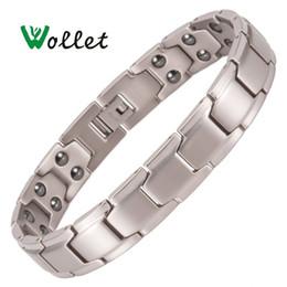 Women pure gold bracelet online shopping - Jewelry Germanium Hematite Pure Titanium Magnetic Bracelet for Men Women Fashion Health Care Healing Energy