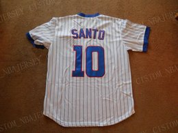 santo jersey NZ - Cheap custom Ron Santo #10 Baseball Jersey Stitched Customize any name number MEN WOMEN YOUTH Jerseys