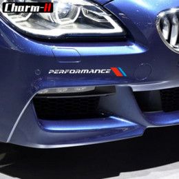 Fiber Performance Australia - 2pcs Front Bumper Decal M Performance Stickers For BMW e90 e46 e39 e60 f30 f31 g30 f85 f16 f10 f34 x3 x4