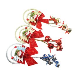 $enCountryForm.capitalKeyWord Australia - Santa Claus Christmas Ornaments Wreath Red Bowknot Christmas Tree Hanging Pendant Home Xmas Decorations gold silver red