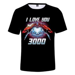 $enCountryForm.capitalKeyWord Australia - 2019 Men Casual Short Sleeve T Shirt Iron Man I Love You 3000 3D Printed T-shirts Plus Size T-shirt