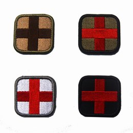 $enCountryForm.capitalKeyWord Australia - RED CROSS 3D Embroidery Patch Medical Assistant Armband Tactical Gear Props Cloth Patches