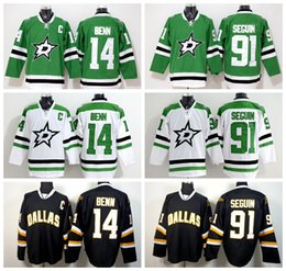 Dallas Stars 14 Jamie Benn Jersey Green White Black Color 91 Tyler Seguin  Ice Hockey Jerseys Fashion Embroidery And Sewing Logo 5e2ade028