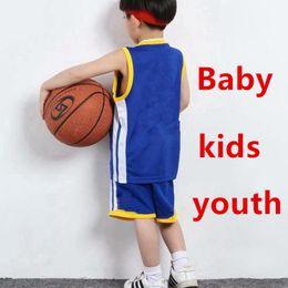 Boys Black yellow tracksuits online shopping - Designer Kids Clothing Sets Boys Girls Youth Sports Basketball Jerseys Children Tracksuits Shirts Shorts Printed No Fading XZT034