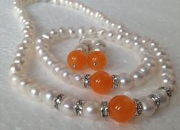 $enCountryForm.capitalKeyWord Australia - cospay women's Hair full wigs Real Cultured Orange gem bracelets necklace earrings set  A06^^^ GP style Fine