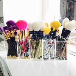 $enCountryForm.capitalKeyWord Australia - Aila Acrylic Makeup Brushes Organizer Enlarge 5 Slot Mascara Lipstick Stand Case Jewelry Box Cosmetic Holder J190713