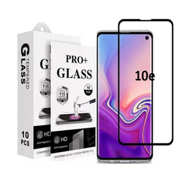 Samsung Screen Glass Guard Australia - 5D 6D 9D Full Glue Full Cover tempered glass Screen Protector Guard For Samsung Galaxy S10E For Iphone XS Max XR 8 7 6 Plus Retail Package