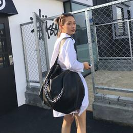 $enCountryForm.capitalKeyWord Australia - Celebrity Black Big Bag For Women Men 2018 Unisex Soft Leather Hobo Handbag Large Capacity Casual Handbag Chain One Shoulder Bag Y19061705