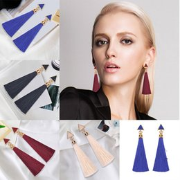 long fringe scarf wholesale Canada - 2018 New Fashion Women Rhinestone Long Tassel Dangle Earwears Fringe Drop Ear's Accessories How New