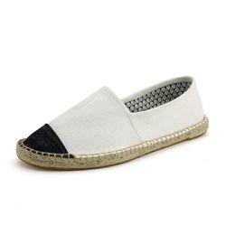 $enCountryForm.capitalKeyWord Australia - Mens Espadrilles Men Patchwork Slip On Summer Shoes Men Loafers Breathable Canvas Shoes Fashion Jute Wrapped