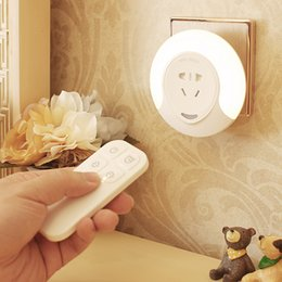 Mini Remote Control Led Lamp With 5 Pin Wall Switch Self Defense Safety Plug Charger Bedroom Baby Sleep Night Light Led Lamp Home