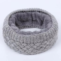 China New Winter Warm Men And Women Knitted Scarves Pure Wool Knitting Rings Velvet Inside Unisex Design 13 Colors 25x23cm cheap inside fashion design suppliers