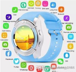 $enCountryForm.capitalKeyWord Australia - Design Smart Watch Bluetooth Smartwatch with Camera Touch Screen SIM Card Slot, Waterproof Phones Smart Wrist Watch Sports Fitness Compatib