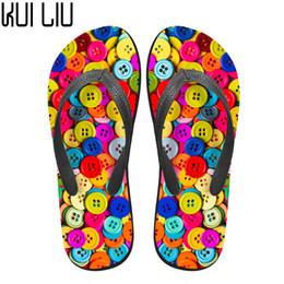 3d Flips Australia - Customized Summer House Non-slip Flip Flops 3D Button Pattern Summer Soft Rubber Beach Slippers for Woman Girls Sandals Shoe