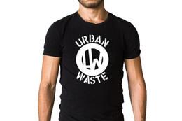 7b2f477fa049 Urban Waste Logo Black T-Shirt Cool T Shirts Designs Best Selling Men  Summer Short Sleeves Fashiont White Style