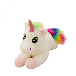 New Plush Pink Unicorn Toy Cute Large Lying&standing Animal Doll Kids Appease Toys Sofa Sleeping Pillow Christmas Gift Children Sale Price Dolls & Stuffed Toys
