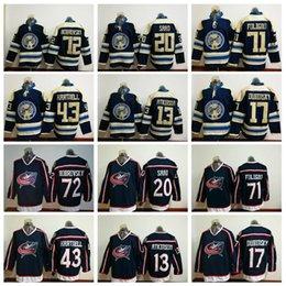 Columbus Blue Jackets Hockey 71 Nick Foligno Jersey 72 Sergei Bobrovsky 17  Brandon Dubinsky 43 Scott Hartnell 20 Brandon Saad Cam Atkinson ac69b6482
