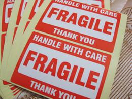 200шт 76x51mmHANDLE с осторожностью хрупкий спасибо самоклеящаяся доставка этикетка наклейка для защиты упаковки товаров, пункт Нет. Вручителя ss25 на Распродаже
