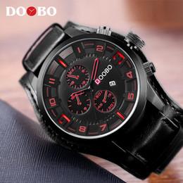 Mens Fashion Luxury Sport Watch Australia - Mens Watches Top Brand Luxury DOOBO Men Watch Leather Strap Fashion Quartz-Watch Casual sports Wristwatch Date Clock Relojes