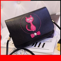 girls envelope wallet NZ - Fashion Women Cross Body Shoulder Bags Girls Lady Keys Mobile Phone Envelope Messenger Bag Cat Bow Women Pu Leather Wallet Purse