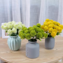 Flor artificial Artificial Dandelion para Decoração de Tecido Flor para Decoração de Casamento Centrais de Mesa de Festa Em Casa Flores Decorativas em Promoção