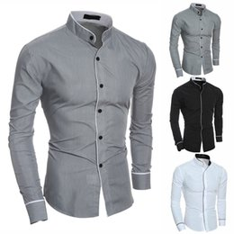 $enCountryForm.capitalKeyWord Australia - Hot Men Long Sleeve Shirts Simple Slim Fit Stylish Casual Tops for Summer hh88