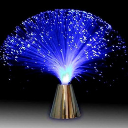 fiber optic night light lamp UK - Multicolor LED Fiber Optic Light Night Lamp Holiday Christmas Wedding Home Decoration Nighting Lighting Lamps