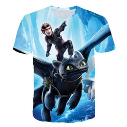 China 2019 Pocket Toothless T-shirt Men Cute Tops How To Train Your Dragon Cartoon Tees 3D T Shirt Summer Grey Clothes Cotton Tshirt supplier toothless dragon suppliers